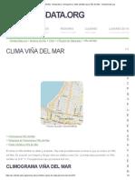 Clima Viña Del Mar_ Temperatura, Climograma y Tabla Climática Para Viña Del Mar - Climate-Data.org