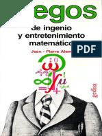 Alem Jean Pierre - Juegos De Ingenio Y Entretenimiento Matematico.pdf