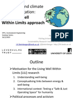 Well-being and climate change mitigation: the Living Well Within Limits approach