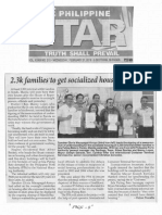 Philippine Star, Feb. 27, 2019, 2.3k families to get socialized housing in Tondo.pdf