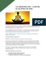 Meditatia Cu Mantra Om