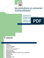 Effect of Sales Promotions on Consumer Buying Behavior