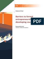 Barriers for Entrepreneurship