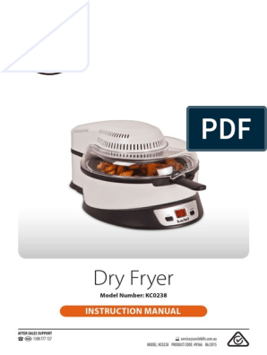 Kuchef Dry Fryer White Manual V1 4 Ac Power Plugs And Sockets French Fries