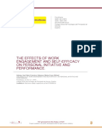 THE EFFECTS OF WORK ENGAGEMENT AND SELF-EFFICACY ON PERSONAL INITIATIVE AND PERFORMANCE.