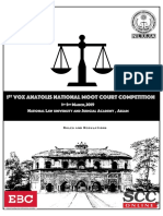 national level moot court competetion Rules and Regulations
