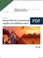 Harry HotLine El Aventurero Que Viajaba Con Teléfono Móvil