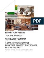 MARKET PLAN REPORT  FOR THE PRODUCT  VINTAGE WOOD