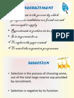 Recruitment Selection &Training