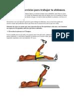Rutina de ocho ejercicios para bajar abdomen