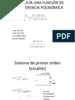 Introducir Una Función de Transferencia Polinómica