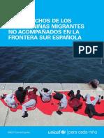 Informe UNICEF Niños migrantes no acompañados