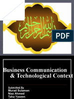 Business Communication & Technological Context