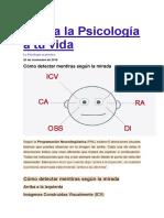 Aplica La Psicología a Tu Vida-como Detectar Mentiras Con Mirada