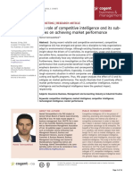The Role of Competitive Intelligence and Its Subtypes on Achieving Market Performance