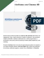 Rendering wireframe con Cinema 4D e Vray | Angelo Ferretti