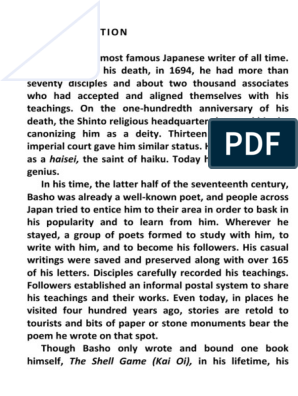 Basho The Complete Haiku Integraladocx Haiku Poetry