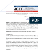 Dissertacao - De Tipologia a Genero Textual