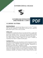 Newsletter - October 2010