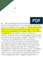 «Glosses» in 'Pilate and Jesus' (Giorgio Agamben)