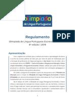 Regulamento Olimpiada de Lingua Portuguesa