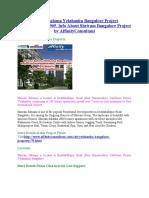 Shriram Sahana Yelahanka Bangalore Project Book@09999684905