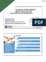 Analisis Resiko Regulatory Impact Assessment RIA 2017 NAN