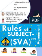 Subject-Verb Agreement (SVA) Part 1 by Mel Anthony A. Cerilo