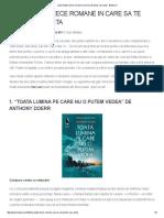 Zece Romane in Care Sa Te Pierzi Vara Asta'