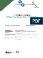 Anexa 4. – Plan de Afaceri – Model Standard