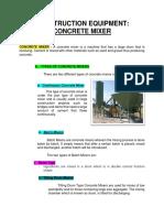 1-Concrete Mixer Summary