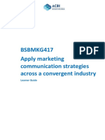Bsbmkg417 Learner Guide