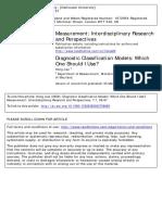 Diagnostic Classification Models