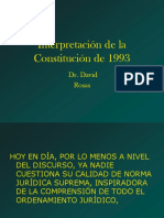 Interpretacion de La Constitucion de 1993 Dr. David Rosas
