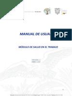 Manual de Usuario Registro de Salud en El Trabajo