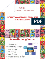 1. Production of Power From Heat & Refrigeration
