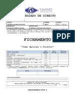 FICHAMENTO - Como Aplicar o Direito