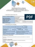 Fase 2 -Metodologías Para Desarrollar Acciones Psicosociales en El Contexto Educativo.