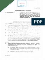 Second Affidavit of J. Robertson Sworn Feb. 25, 2019