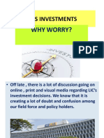 Lic s Investments Jagdish Gandhi