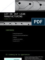 Ecuacion de Vut Lean Manufacturing