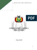 Constitución Politica del Estado Bolivia (2009)