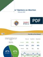 Encuesta. Opinión de Los Estadounidenses Sobre El Aborto. Feb. 2019