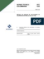 NTC 1232 Método de análisis de aflatoxinas.pdf