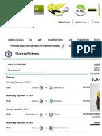 Chelsea Fixtures - Goal