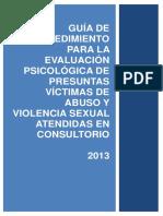 2013 03 18 Guia de Procedimiento Para La Evaluacion Psicologica Victimas Abuso