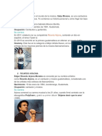 ARTISTAS GUATEMALTECOS / CANTANTES GUATEMALTECOS