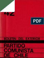 Boletín del Exterior Partido Comunista de Chile Nº42