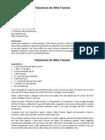 Pataniscas de Alho Francês