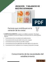 Clase Modeloestandarizacion y Balanceo de Recetas Estandar